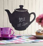 Wallies Chalkboard Accents Teapot